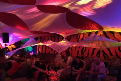 Decorated Funky Uv Marquee For Hire