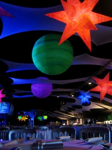 inflatable projection with planets-#39