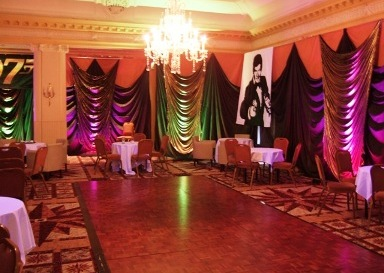 James bond themed event decor for 007 decoration ideas
